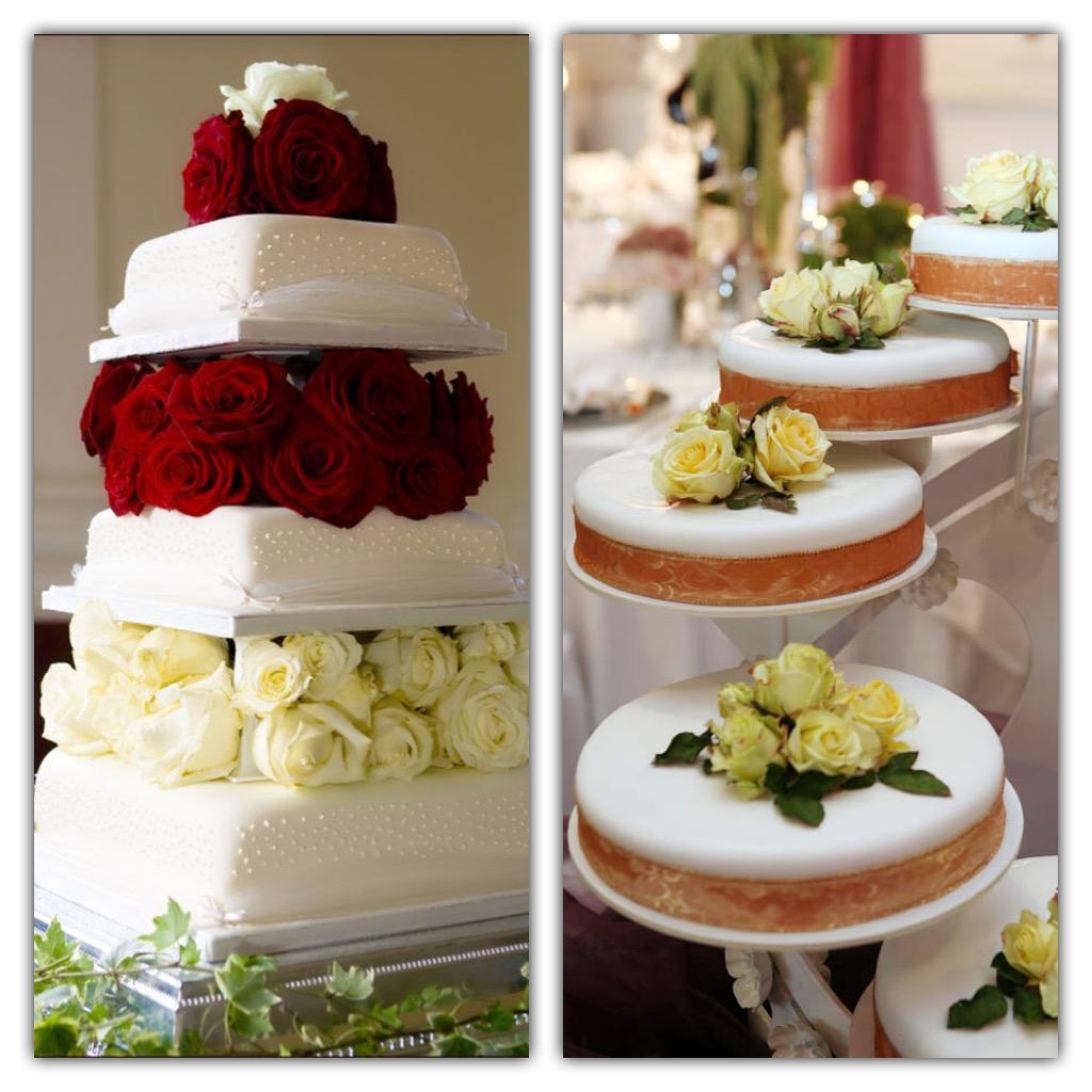 Originale e di grande impatto decorare lo spazio tra i piani con i fiori  simili al bouquet della sposa o i colori del matrimonio.